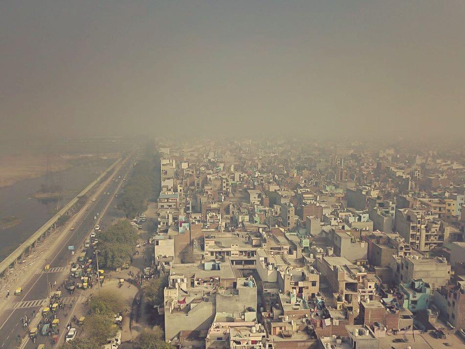 Ciao Delhi. #airpollution #airqualityindex